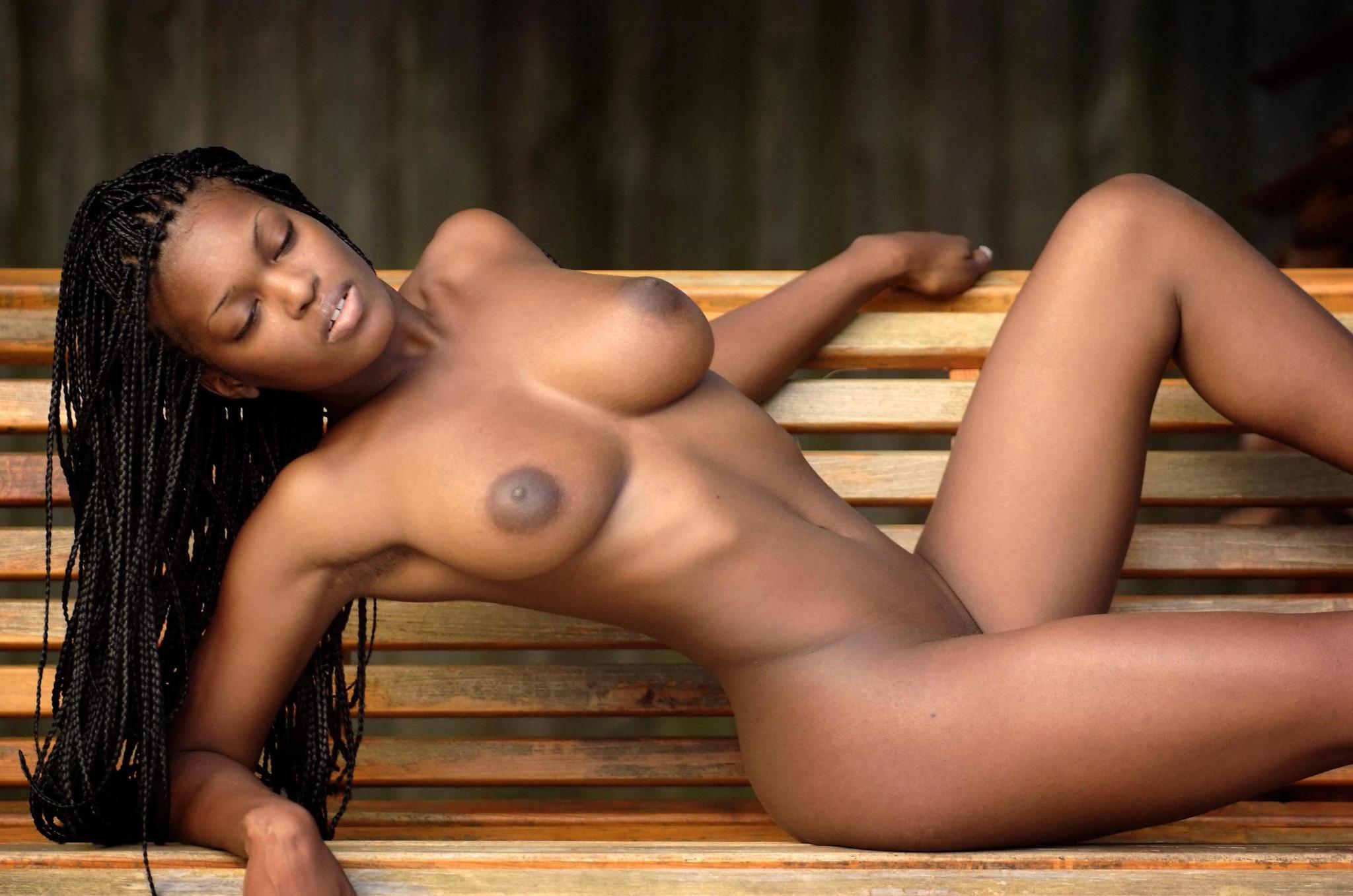 Young black girl naked on webcam