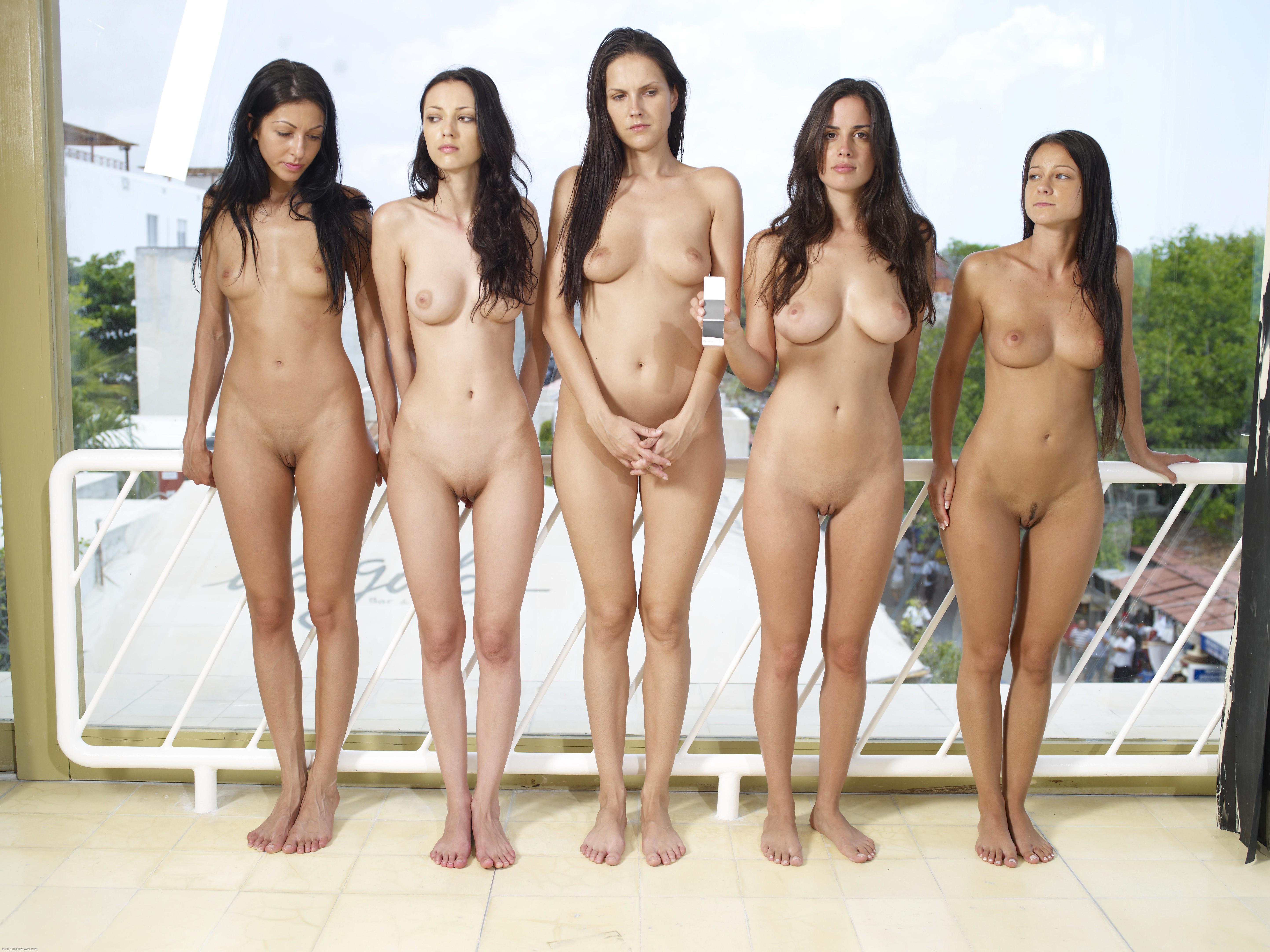Много Обнаженных Красивых Девушек