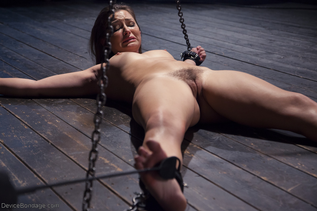 Woman naked bound