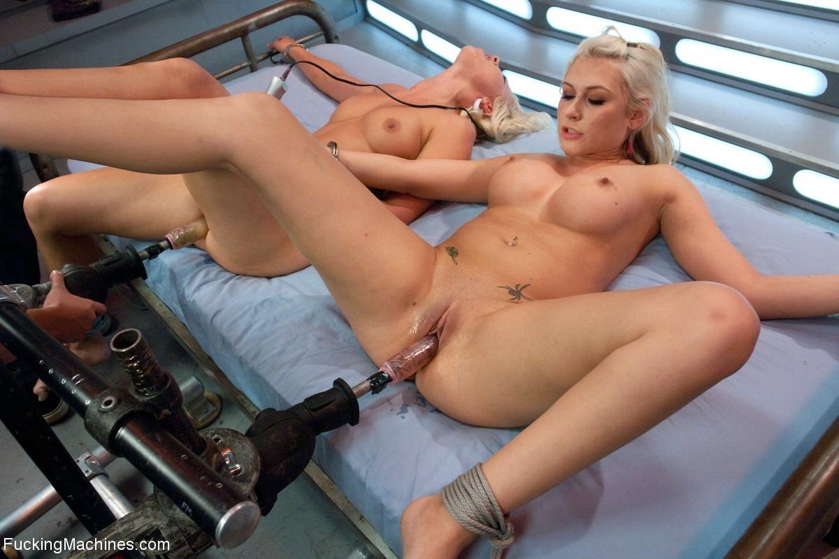 Sex machine fucks this hot blonde girl