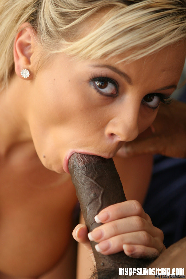 Hot blonde sucking black dick, cute shemale videos