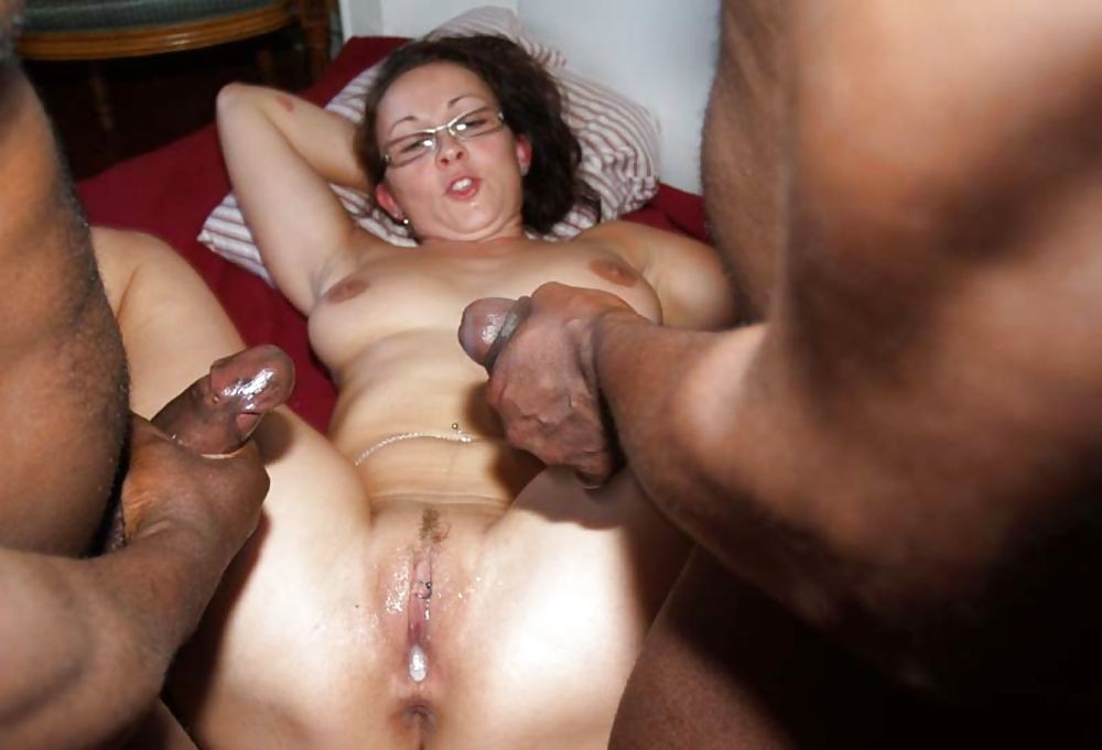 Interracial anal creampie housewife smut photo