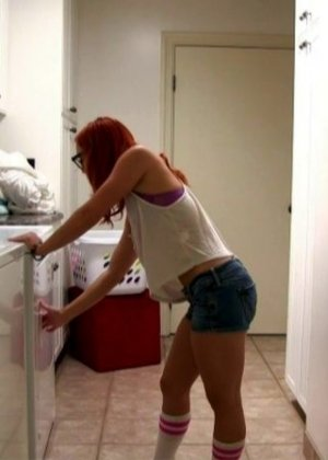 Утренний минет и трах с рыжей телкой на кухне