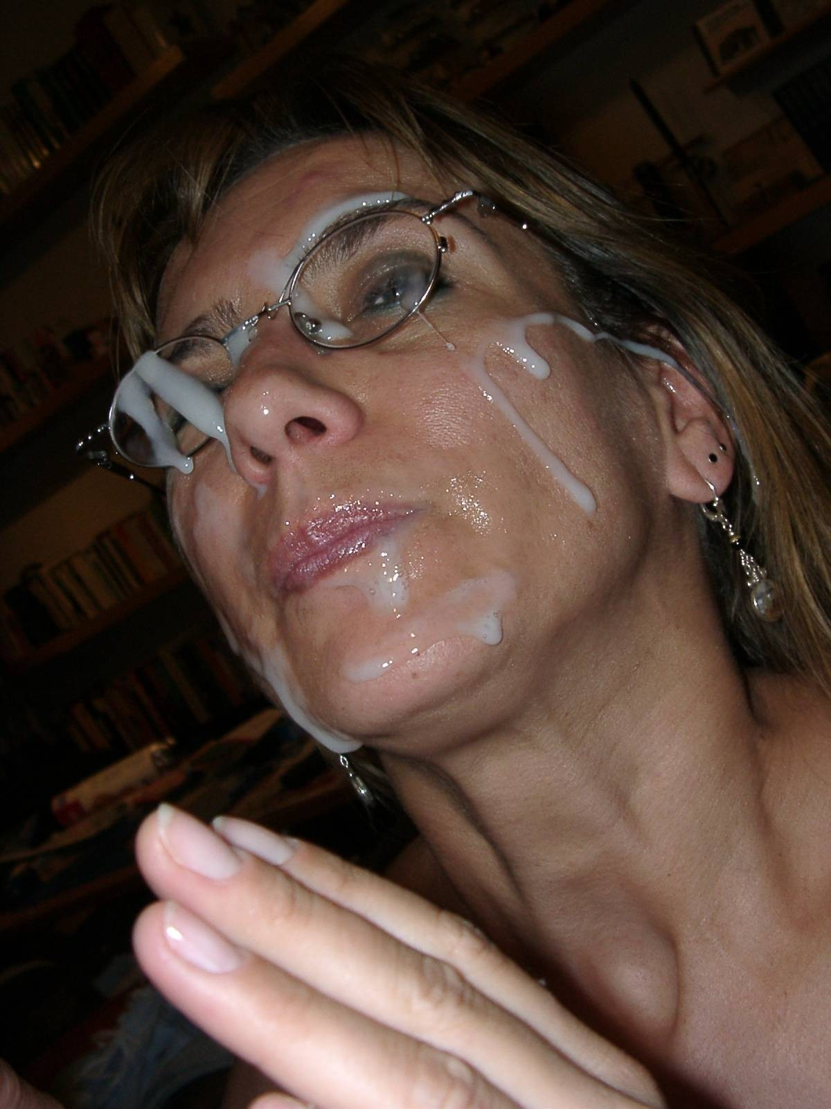 Mature gets facial