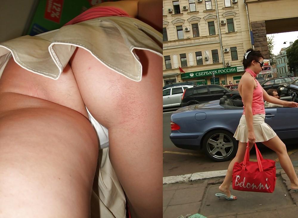 Подсматриваем трусики на улицах города