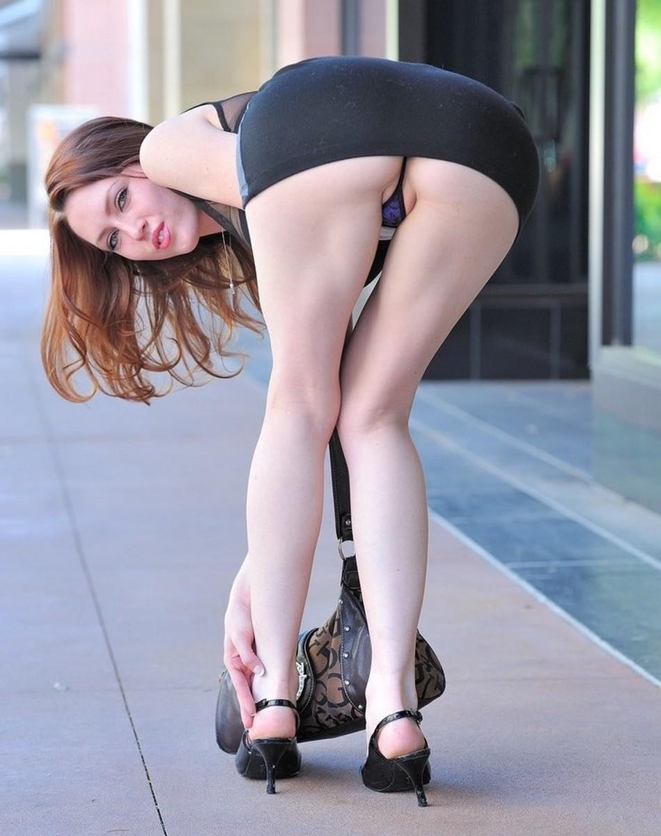 Teen mini skirt bent over naked walker