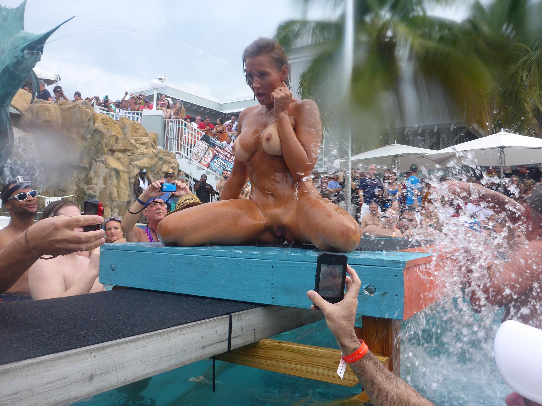Naked water park girls