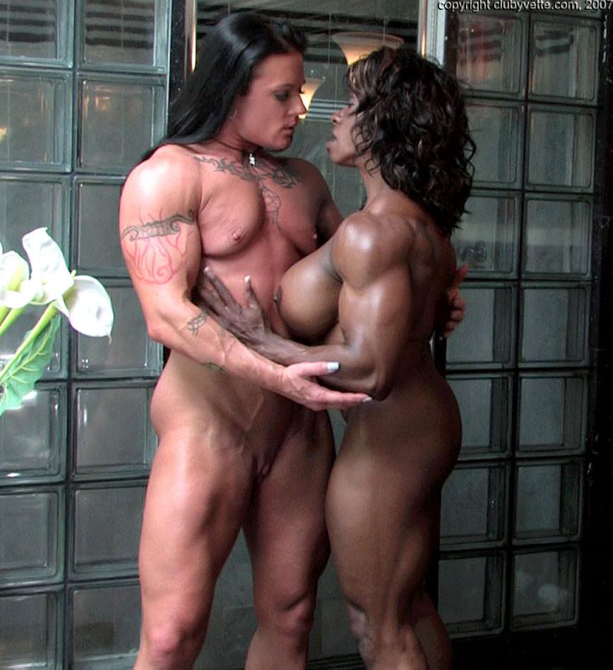 Muscle female lesbian naked tall — photo 4