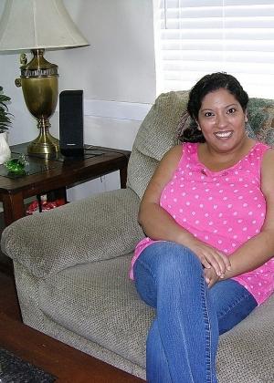 Жирная жопа и большие соски мексиканской зрелой женщины