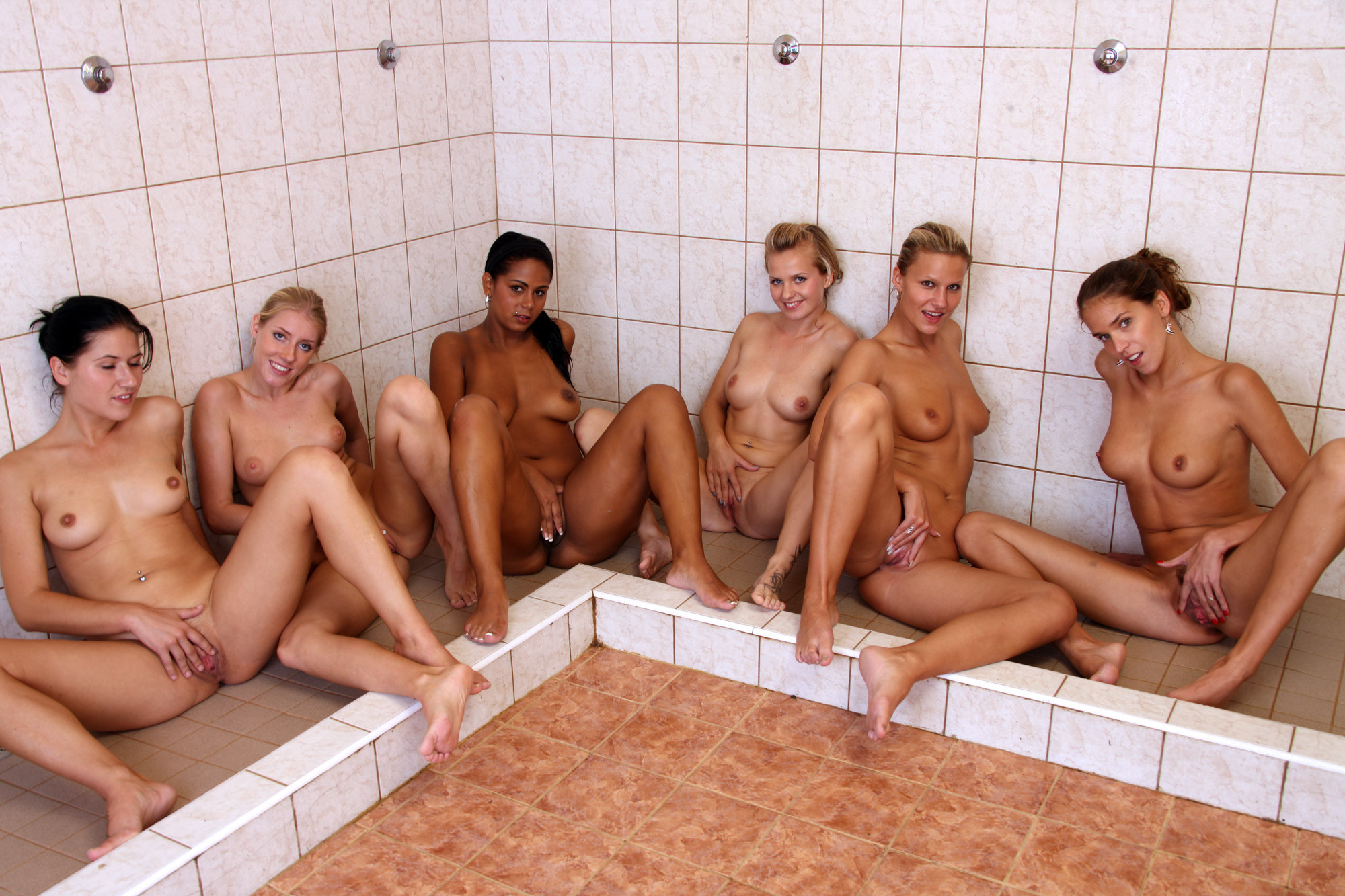 Female naked shower room