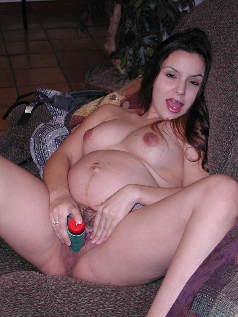 Pregnant woman dildo 4