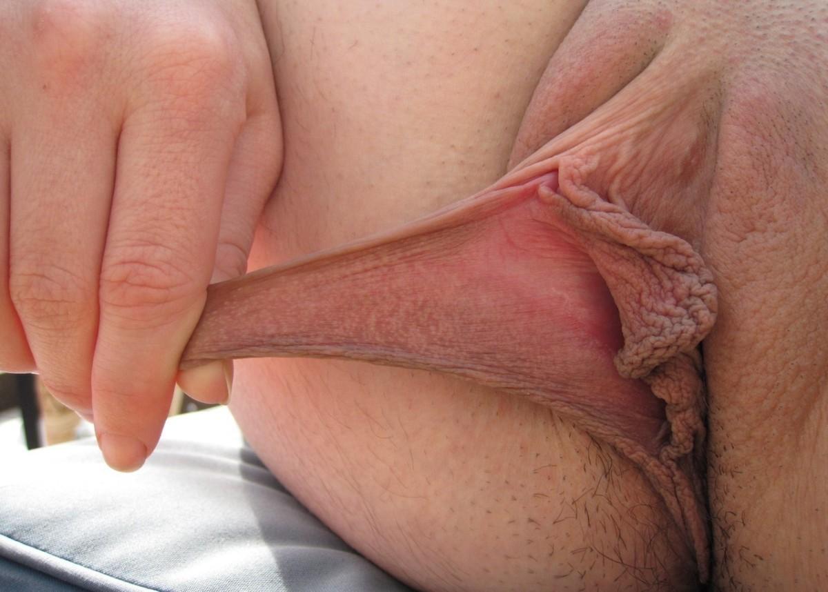 Порно отвисшие половые губы
