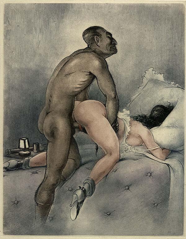 порно рисунки художников