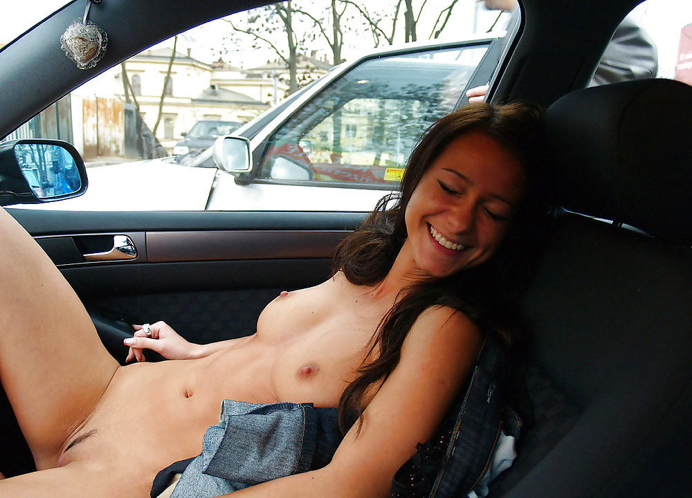 Nude driving a car — pic 5