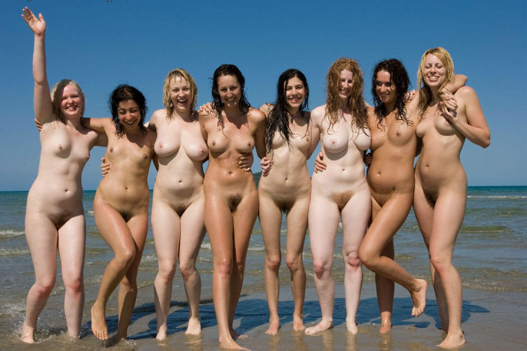 Nude girls on a beach — photo 14