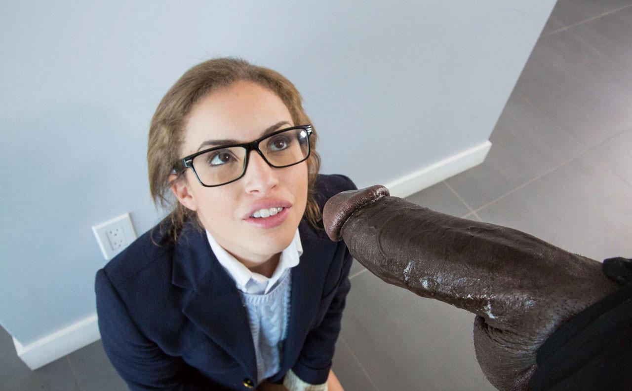 Black cock nerdy girl — pic 6